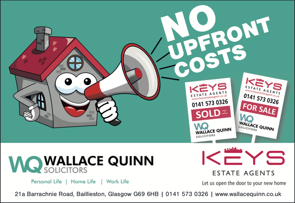Thinking of a house move to start the New Year? There are no upfront costs when selling through Wallace Quinn and Keys Estate Agents