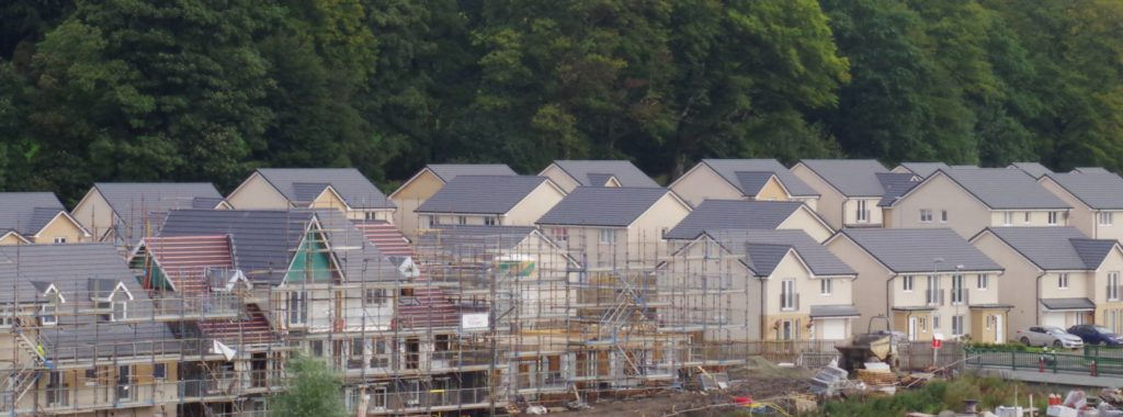 house building news a new build construction site in scotland